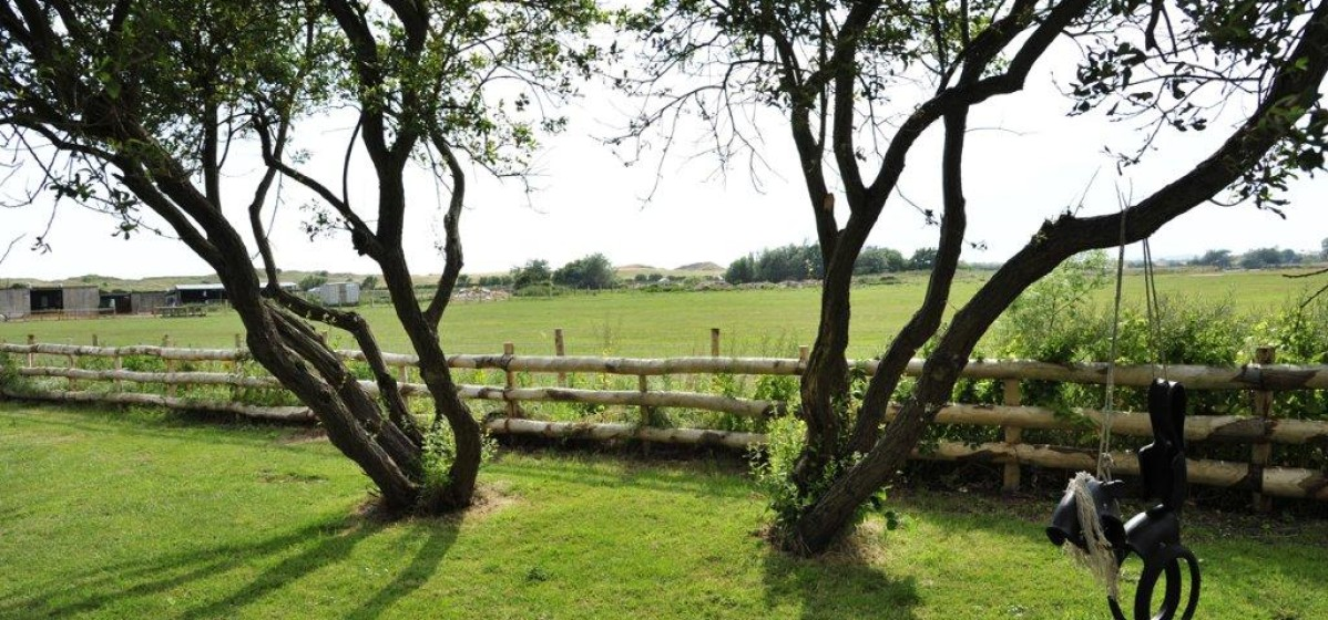 View over the fields from the back of the house